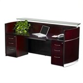 Mayline Napoli Double Box/Box/File Pedestal Reception Station