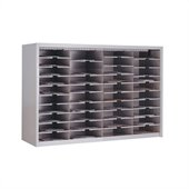 Mayline Mailflow 24 High Close Back Sorter in Pebble Gray Paint