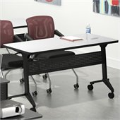 Mayline Flip-N-Go 24 x 60 Low Pressure Laminate T-Mold Table in Folkstone