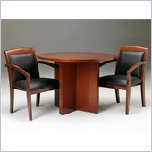Mayline Stella 42 Round Conference Table in Toffee