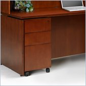 Mayline Mobile Pedestal Box/Box/File in Toffee