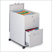 Mayline Mobilizer Legal 2 Drawer Mobile Vertical Metal Filing Cabinet with Lid and Drawer