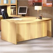 Mayline Aberdeen Bow Front Desk Shell in Maple