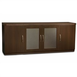 Mayline Aberdeen Low Wall Cabinet in Mocha