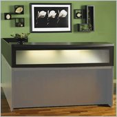 Mayline Aberdeen Reception Desk Transaction Counter in Maple