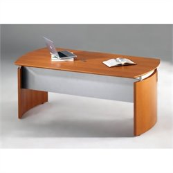 Mayline Napoli Wood Desk in Golden Cherry