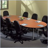 Mayline Geneva Narrow Racetrack 8' Conference Table with Trestle Base