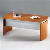 Mayline Napoli 72 Contemporary Wood Veneer Computer Desk