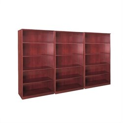 Mayline Corsica 5 Shelf Wall Bookcase in Sierra Cherry