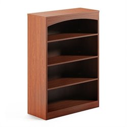 Mayline Brighton 4 Shelf Bookcase in Cherry