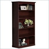 Mayline Toscana Bookcase with Five Shelves in Mahogany