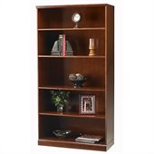 Mayline Sorrento 5 Shelf Bookcase in Bourbon Cherry