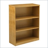 Mayline Luminary 3 Shelf Bookcase in Maple