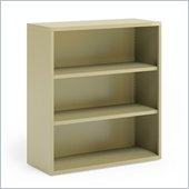 Mayline CSII 3 Shelf Metal Bookcase in Putty