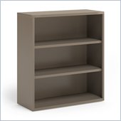 Mayline CSII 3 Shelf Metal Bookcase in Desert Sage