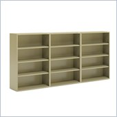 Mayline CSII 4 Shelf Metal Wall Bookcase in Putty