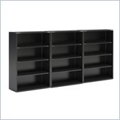 Mayline CSII 4 Shelf Metal Wall Bookcase in Black