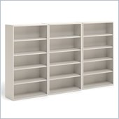 Mayline CSII 5 Shelf Metal Wall Bookcase in Mist
