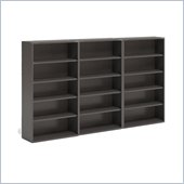 Mayline CSII 5 Shelf Metal Wall Bookcase in Medium Tone