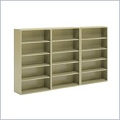 Mayline CSII 5 Shelf Metal Wall Bookcase in Putty