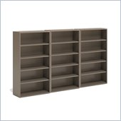 Mayline CSII 5 Shelf Metal Wall Bookcase in Desert Sage