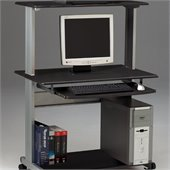 Mayline Crosswinds Mobile Wood Computer Desk with Hutch