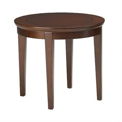 Mayline Sorrento Round End Table in Bourbon Cherry