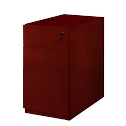 Mayline Luminary 3 Drawer Pedestal File for Credenza in Cherry Finish