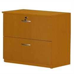 Mayline Napoli 2 Drawer Lateral Wood File Cabinet in Golden Cherry