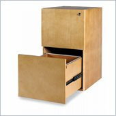 Mayline Luminary 2 Drawer Vertical Wood File Pedestal for 30 Desk
