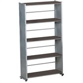 Mayline Eastwinds Five Shelf Bookcase in Black Anthracite