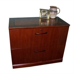 Mayline Sorrento 2 Drawer Lateral File in Bourbon Cherry
