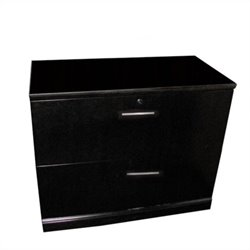 Mayline Sorrento 2 Drawer Lateral File in Espresso