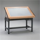 Mayline Ranger Steel 4 Post Light Table