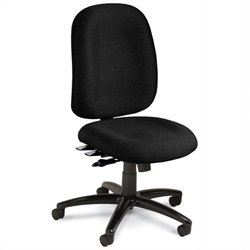 Mayline Comfort 24-Hour High Performance Office Chair in Black