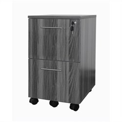 Mayline Medina Pedestal (File-File) in Gray Steel