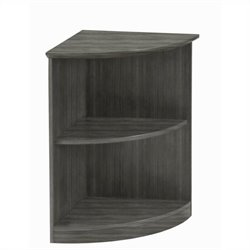 Mayline Medina Bookcase (2 Shelf 0.25 - Round) in Gray Steel