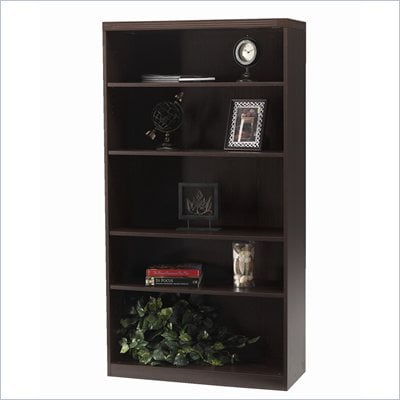 Mayline Aberdeen 5 Shelf Bookcase in Mocha