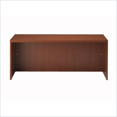 Mayline Aberdeen Wood Credenza Desk in Cherry