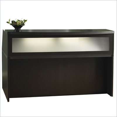 Mayline Aberdeen 72&quot; Reception Desk in Mocha