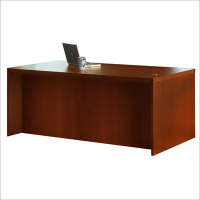 Mayline Aberdeen Straight Home Office Wood Computer Desk in Cherry
