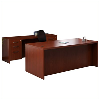 Mayline Aberdeen Conference Desk, Credenza and 4 Pedestals