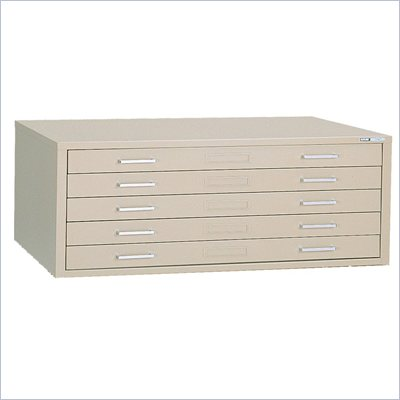 "Mayline C Files 5 Drawer Metal Flat Files Cabinet for 24"" x 36"" Documents"