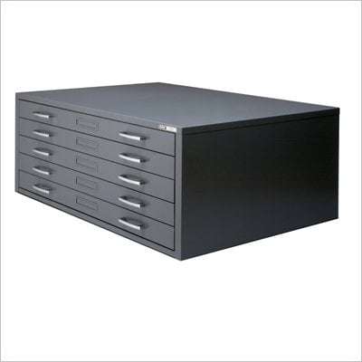 Mayline C-Files 5 Drawer Metal Flat Files Cabinet