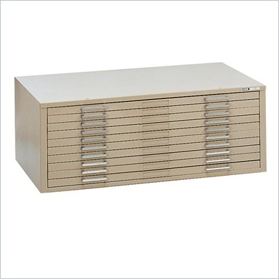 Mayline C-Files 10 Drawer Metal Flat Files Cabinet for 30&quot; x 42&quot; Documents