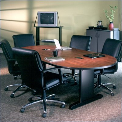 Mayline CSII Racetrack 10' Narrow Conference Table with Trestle Base