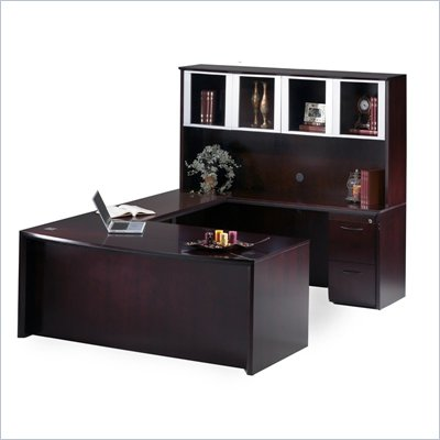 "Mayline Corsica 72"" Wood Executive U-Shaped Desk"