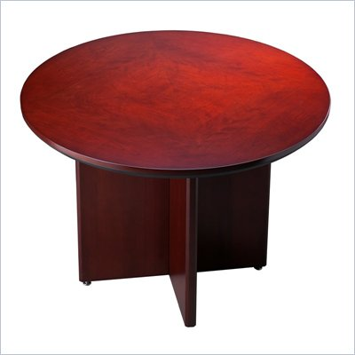 Mayline Corsica 42&quot; Round Conference Table with X-Shaped Base