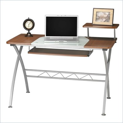 Mayline Vision Wood Top Computer Desk