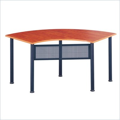 Mayline Encounter 67x24 Crescent Table w/ Scratch Resistance Melamine Surface